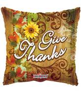 "18"" Give Thanks Autumn Balloon"