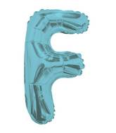 "14"" Airfill with Valve Only Letter F Light Blue Balloon"