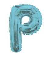 "14"" Airfill with Valve Only Letter P Light Blue Balloon"