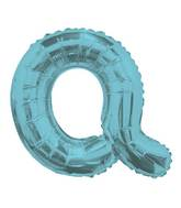 "14"" Airfill with Valve Only Letter Q Light Blue Balloon"