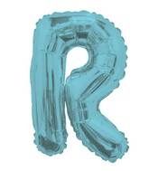"14"" Airfill with Valve Only Letter R Light Blue Balloon"