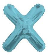 "14"" Airfill with Valve Only Letter X Light Blue Balloon"