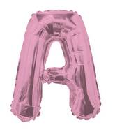 "14"" Airfill with Valve Only Letter A Pink Balloon"
