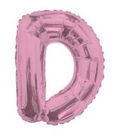 "14"" Airfill with Valve Only Letter D Pink Balloon"