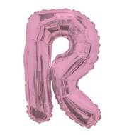 "14"" Airfill with Valve Only Letter R Pink Balloon"