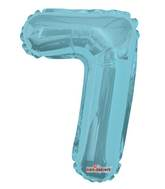 "14"" Airfill with Valve Only Number 7 Light Blue Balloon"