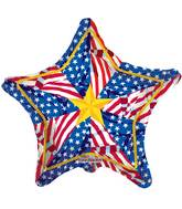"9"" Airfill Only Old Glory Pinwheel Balloon"