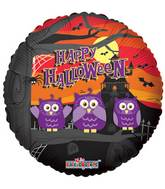 "18"" Halloween Owls Balloon"