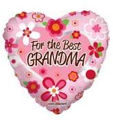 "18"" For The Best Grandma Balloon"
