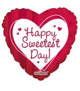 "18"" Sweetest Day Hearts & Lines Balloon"