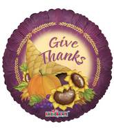 "9"" Airfill Only Give Thanks Balloon"