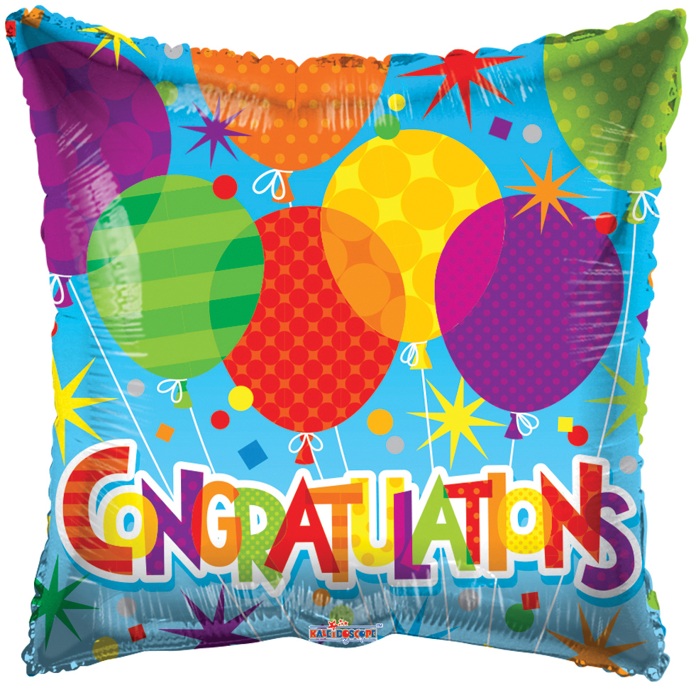 "18"" Congratulations Patterned Balloons Balloon"