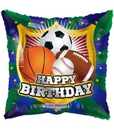 "18"" Happy Birthday Shield Sports Balloon"