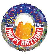 "18"" Happy Birthday Beer Balloon"