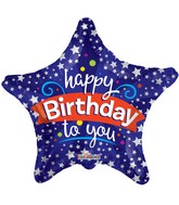 "4"" Airfill Only Happy Birthday To You Star Balloon"