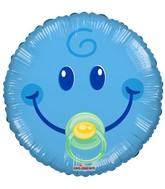 "18"" Smiley Boy Gellibean Balloon"