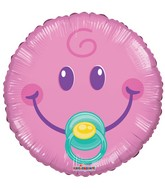 "9"" Airfill Only Smiley Girl Gellibean Balloon"