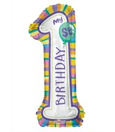 "34"" My 1st Birthday Shape Balloon"