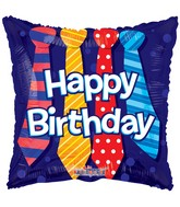 "18"" Happy Birthday Ties Balloon"