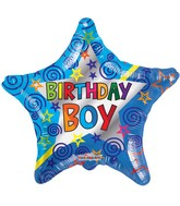 "18"" Birthday Boy Star Balloon"