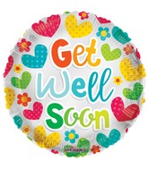 "18"" Get Well Bright Colors Elements Balloon"