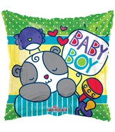 "18"" Baby Boy Sleepy Bear Balloon"