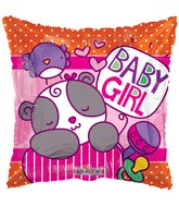 "18"" Baby Girl Sleepy Bear Balloon"
