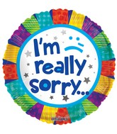 "18"" I&#39m Really Sorry Patchwork Balloon"