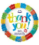 "18"" Thank You Patterns Balloon"