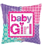 "18"" Baby Girl Stitches Balloon"
