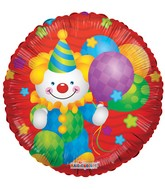 "18"" Clown with Balloons Balloon"