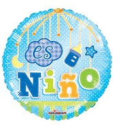 "18"" Es Nino Movil Holografico Balloon"