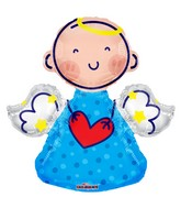 "14"" Angel Blue Shape Balloon"