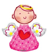 "14"" Angel Pink Shape Balloon"