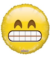 "18"" Smiley Teeth Balloon Emoji"
