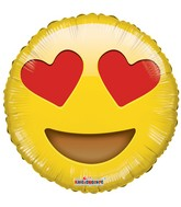 "18"" Smiley In Love Balloon Emoji"