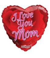 "18"" I Love You Mom Rose Balloon"