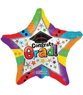 "18"" Multicolor Grad Star Balloon"