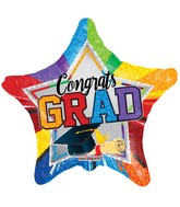 "18"" Grad Multicolor Star Balloon"