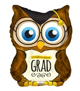 "28"" Owl Grad Shape Balloon"