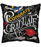 "18"" Grad Blackboard Balloon"