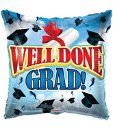 "18"" Well Done Grad! Balloon"