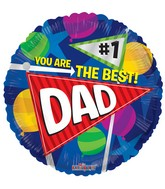 "18"" The Best Dad Pennants Balloon"