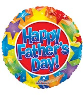 "18"" Happy Father&#39s Day Stars Balloon"