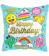 "18"" Square Birthday Juvenile Balloon"