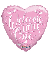 "9"" Airfill Only Heart Welcome Little One Pink Balloon"