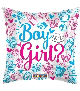 "18"" Square Boy Or Girl? Balloon"