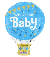 "18"" Shape Welcome Baby Blue Shape Balloon"
