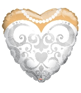 "18"" Heart Bride&#39s Dress Balloon"