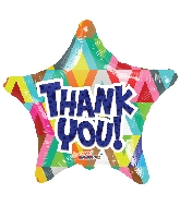 "18"" Star Thank You Star Gellibean Balloon"